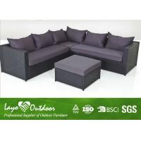 Three Seater Sofa Set Patio Outdoor Furniture With Alu Frame Excellent Handweaving Technique
