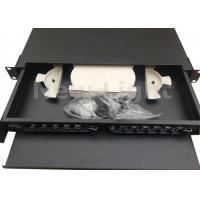 Buy cheap 19 Inch Pull Type Fiber Optic Distribution Frame 12 Port Rack Mount Fiber Patch Panel from Wholesalers