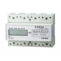 Buy cheap 7 Module 4 Wire Three Phase Power Meter CT Connection Din Rail KWH Meter from Wholesalers