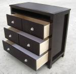 Buy cheap American Style Bedroom 3 Drawer Dresser HPL Top Oak / Walnut Wood from Wholesalers