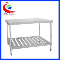 China Resturant kitchen stainless steel work table with shelves /  work benches factory
