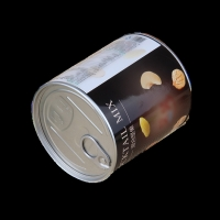 China Custom round easy open can kraft paper tube food packaging container for Nuts, cookies on sale