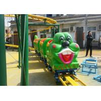 China Green Worm Shape Kiddie Roller Coaster For Large Parks And Tourist Attractions factory