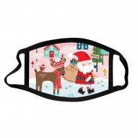 China Christmas Digital Printing Dust Washable Mask For Daily factory