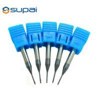 China 30 Degree Miniature Tapered End Mills , Solid Carbide Ball Nose End Mills factory