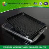 Quality White Disposable Food Tray Sushi Tray Cookies FDA BOPS High-transparently for sale