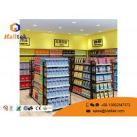 China Cold - Rolled Steel Supermarket Gondola Shelving Easy Assemble Light Duty Type factory