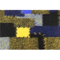 Buy cheap Yellowish Blue Patches Black Jacquard Fabric Worsted Gabardine from wholesalers