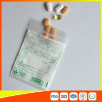 Buy cheap Tablet Drug Packaging Ziplock Pill Bags , Medicine Plastic Bag With Zip Seal from Wholesalers