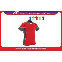 China Breathable Short Sleeve Custom Soccer Shirts / Youth Soccer Jerseys with Multi Color and Size factory