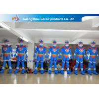Buy cheap Advertising Oxford Cloth Blue Inflatable Superman With Blower 3m High from Wholesalers