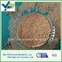 China Abrasive material golden cerium zirconia grinding media for basket mill factory