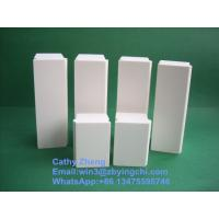 China Excellent high wear resistance arc and rectangle with fastener alumina ceramic brick factory