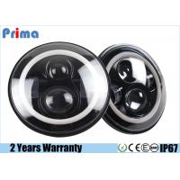 Buy cheap 7 Inch LED Jeep Headlight With Halo Angel Eye Ring High Low Beam H4 Plug from Wholesalers