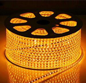 China LED Strips SMD5050 60pcs yellow color warterproof white double PCB 3M adhersive CE EMC factory