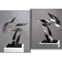 Buy cheap Customized Modern Stainless Steel Art Sculptures Indoor Decorative Brushed Finishing from Wholesalers