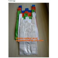 China colored plastic, t-shirt shopping bags, custom printed, plastic t shirt bags, poly bags factory