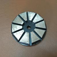 """China 3"""" 4"""" Inch 10 Segments Diamond Grinding Shoes/Disc with Hook & Loop Backers for STI Floor Grinder Polisher factory"""