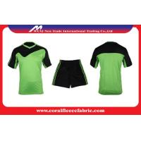 China Men's Custom Soccer Jerseys Breathable / Multi Color Short Sleeve Football Sport Suits factory
