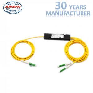 China Single Mode FTTH Distribution Box Optical Coupler 1x2 LC APC PLC Splitter FBT on sale