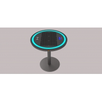 China Single Leg 30W 20Ah LiFePO4 Wireless Charging Coffee Table factory