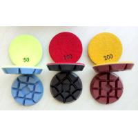 Buy cheap 3 Inch 75mm Colourful Concrete Floor Polishing Pads With 11mm Thickness from Wholesalers