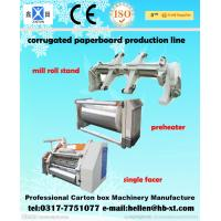 Buy cheap DW 1400 / 1600 Single Facer Corrugated Cardboard Box Making Machine ISO 9001 from Wholesalers