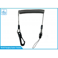 China Fishing Coiled Lanyard Inside Safety Rope Steel Wire For Rod 1.5m factory