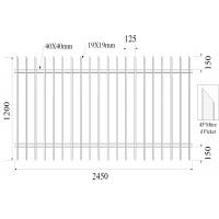 Buy cheap Q235 Interpon Weather Resistance Garrison Fence Panels For Garden / Factory from Wholesalers