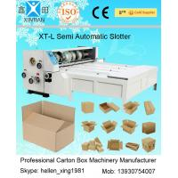 Buy cheap Semi Auto Carton Folding Machine , Chain Feeder Corrugated Carton Slotter 3kw from Wholesalers