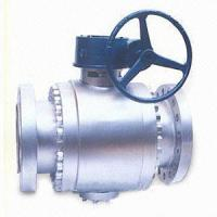 Buy cheap 3 Pieces Trunnion Mounted Ball Valve 900LB Gear Operated Ball Valve from Wholesalers