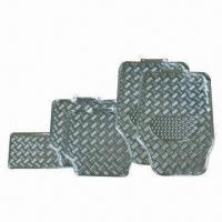 China Aluminum rubber car mats with anti-slip design factory