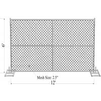 China Chain Link Fence Panels 6'x12' on sale