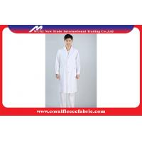 China Cotton / Polyester White Physician Lab Coats Hospital Uniform with Name and Logo Printing factory