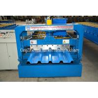 China High Speed Galvanised Sheet Metal Forming Equipment With Hydraulic Cutting on sale