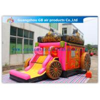China Giant Outdoor Car Inflatable Princess Bouncy Castle With Slide For Children Toys factory