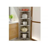 China H134 Multi - Layer Stainless Steel Wire Kitchen Racks Corner Fan - Shaped Storage Rack factory