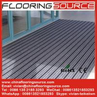 Buy cheap Outdoor Commercial Aluminum Doormat Aluminum extrusion frame carpet brush rubber infill Entrance Carpet Floor Covering from Wholesalers