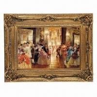 China PU Frame with Oil Painting, Available in Various Colors and Designs on sale