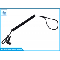China Coiled Lanyard With Clamp End Easily Attaches To Hard Hat factory