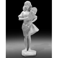 China High quality polish white marble statue sculpture for exhibition,stone carving supplier factory