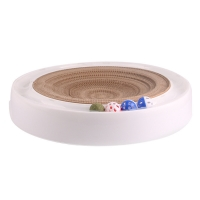 China ODM OEM Cat Scratcher Ball Roller , Sustainable Cat Scratcher Board factory