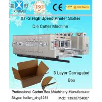 China High Speed Corrugated Sheet Flex Die Cut Sticker Printing Machine of Slotting Unit factory