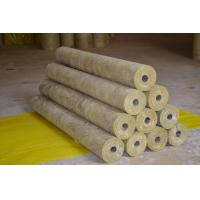 China High Density Rockwool Pipe Insulation Material Heat Resistant ISO CE on sale