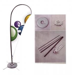 Buy cheap Advertising Teardrop Flag Banner Cross Base Fiberglass / Aluminum Pole from Wholesalers