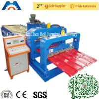 Buy cheap Cr 12 Rollers Step Tile Cold Roll Forming Machine 380V 50Hz 3 Phases from Wholesalers