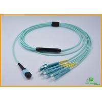 Buy cheap High Density PVC MPO Fiber Optic Cable Breakout Multimode OM3 CATV Networks from Wholesalers