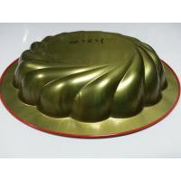 Buy cheap Red Metal Tin Serving Trays , Round Water / Food Serve Tray For Restaurant from Wholesalers