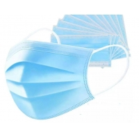 China Top quality 3Ply Non Woven Air Anti Virus and Dust disposable Surgical Medical Face Mask , surgical non woven 3 ply mask factory