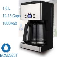 12-15 Cups 1.8L Programmable Drip Coffee Maker with Stainless steel decoration BCM2626T